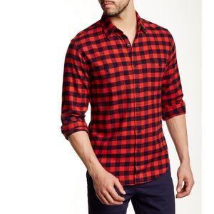 J. Crew Dlim Fit Plaid 100% Cotton Flannel Shirt M